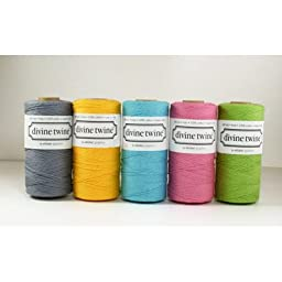 5 Spools of Solid Color Divine Twine