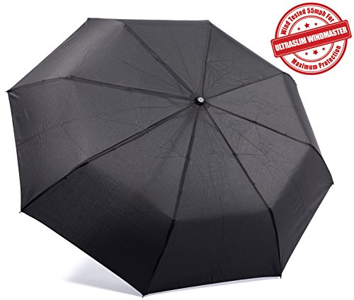 KolumboTM Travel Umbrella - Auto Open/Close - Windproof - UltraSlim, Compact For Easy Carrying - Wind Tested 55MPH - Durability Tested 5000 Times - Lifetime Guarantee ...