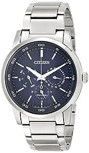 Citizen Men's BU2010-57L Dress Analog Display Japanese Quartz Silver Watch