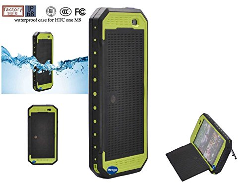 Nancy'S Shop Dot View Matrix Case Cover For Htc One M8 Waterproof Dirtproof Snowproof Shockproof Skin Hard Phone Shell For Htc One M8 (Fruit-Green)