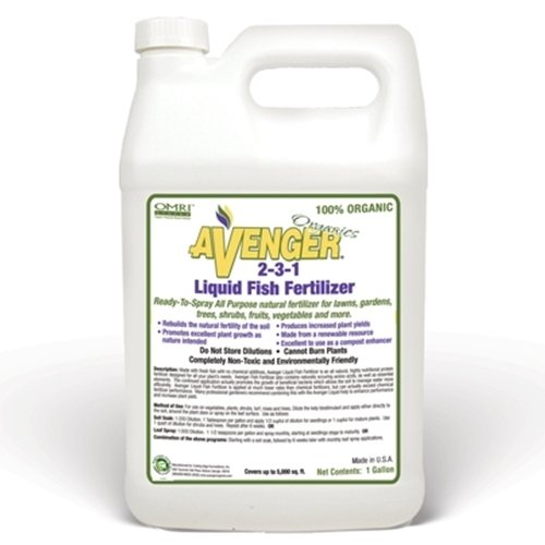 Avenger organics 2 3 1 liquid fish fertilizer 1 gallon for Liquid fish fertilizer