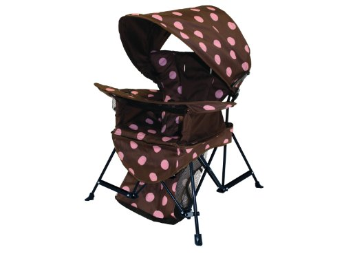 Kelsyus Go With Me Chair, Brown/Pink front-10767
