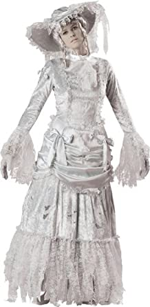InCharacter Costumes, LLC Ghostly Lady Adult Gown, Gray, Small