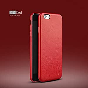 AE iPaky Top-Quality Luxury Leather Ultra Thin Back Cover for Apple iPhone 6/6S - RED
