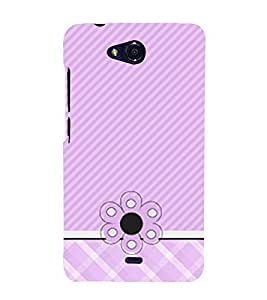Diamond Girly Pattern 3D Hard Polycarbonate Designer Back Case Cover for Micromax Canvas Play Q355