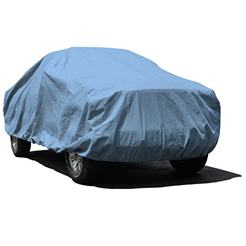 Budge Duro Truck Cover Fits Standard Cab Long Bed Pickups up to 228 inches, TD-4 - (Polypropylene, Blue)