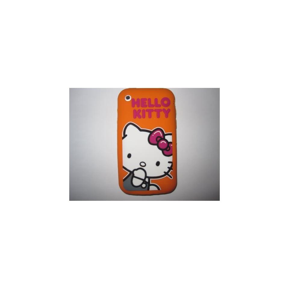 I Phone 3G 3GS light weight Bashful Hello Kitty Silicone Case / Skin Orange