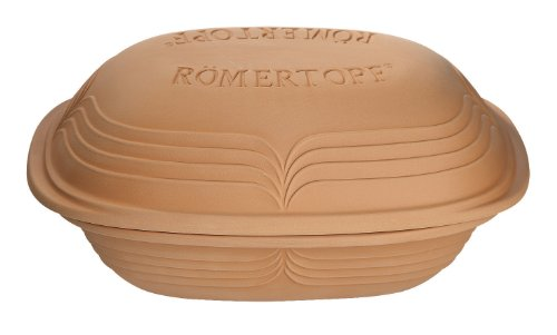 Romertopf 99115 Glazed Clay Cooker, Modern Medium