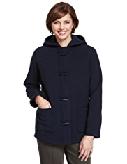Classic Soft Touch Hooded Duffle Fleece Jacket