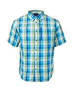 Izas Camisa Hombre Elam (Azul / Verde Claro)