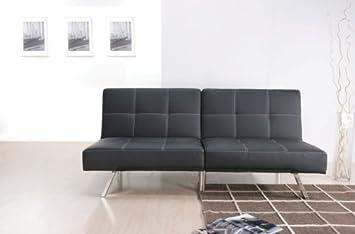 Acme 15335 Katelin Polyurethane Adjustable Sofa, Black
