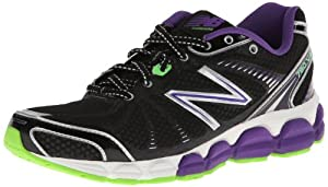 New Balance Women's W780 Running Shoe,Black/Purple,9 D US