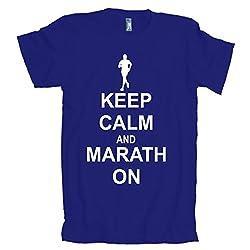 Keep Calm Marathon On American Apparel T-Shirt