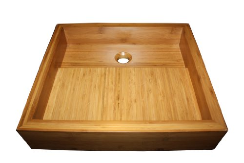 Rectangular Bamboo Vessel Sink