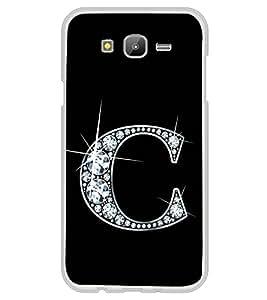 Alphabet C 2D Hard Polycarbonate Designer Back Case Cover for Samsung Galaxy E5 (2015) :: Samsung Galaxy E5 Duos :: Samsung Galaxy E5 E500F E500H E500HQ E500M E500F/DS E500H/DS E500M/DS