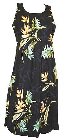 Paradise Found Womens Bamboo Paradise Sleeveless Short Tank Dress in Black - XS