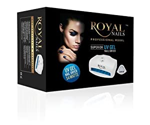 54 WATT ROYAL NAILS PROFESSIONAL UV LIGHT GEL AND ACRILIC NAIL DRYER & CURING RN541 WORKS WITH CND, SHELLAC, OPI, HARMONY GELLISH, IBD GELAC, ETC.. FOR DOUBLE. HANDS OR FEET.