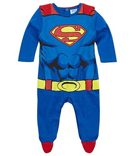 Superman -  Body  - Bebè maschietto blu 18 mesi