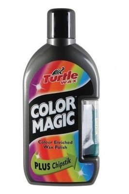 TURTLE WAX COLOR MAGIC GREY COLOUR ENRICHED WAX POLISH + CHIPSTICK-CLEANS,SHINES & RESTORES NEW & OLD PAINTWORK-500ML