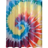 InterDesign Novelty Shower Curtain, 72 x 72-Inch, Tie Dye, Bright