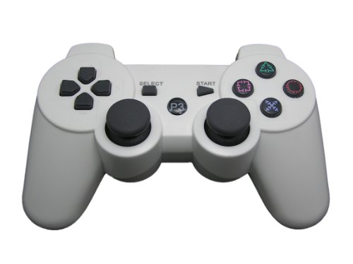 Pure White Bluetooth Dual Shock3 Wireless Controller Rechargeable Joypad For Playstation 3