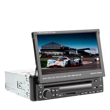 """7 """"écran tactile LCD 1DIN numérique Groupe lecteur DVD de voiture support de l'iPod, Bluetooth, radio stéréo, RDS, écran tactile"""