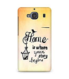 AMEZ home is where your story begins Back Cover For Xiaomi Redmi 2S