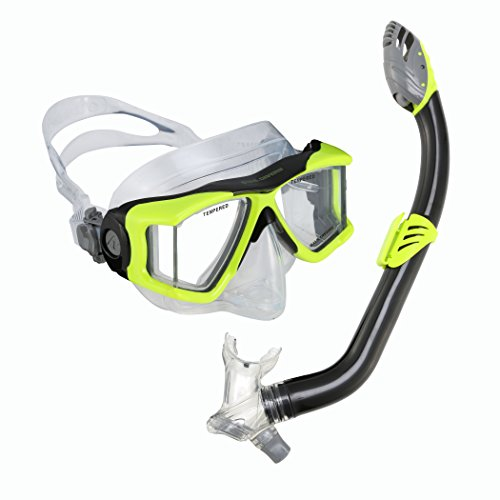 U.S. Divers Youth Viewpoint Junior Laguna Snorkel/LX Mask, Neon Black