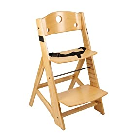 Keekaroo Adjustable Height Right Wood High Chair - Natural