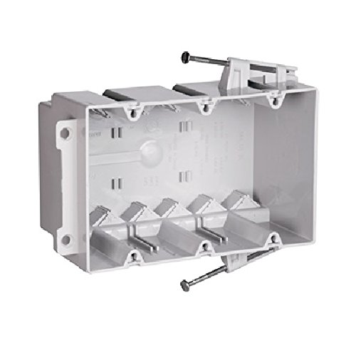 P & S S3-54-Rac 3-Gang Plastic Switch/Outlet Box W/Quick Click