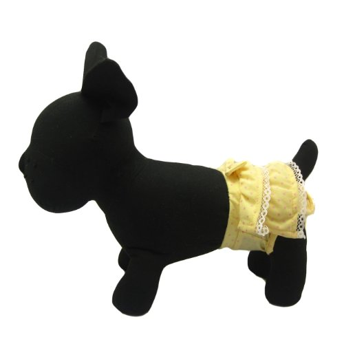 Alfie Pet Apparel By Petoga Couture - Ami Diaper Dog Sanitary Pantie - Color: Yellow, Size: Large (For Girl Dogs) front-1078472