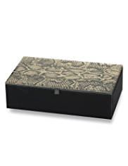 M&S Collection Faux Snakeskin Design Jewellery Box