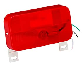 Bargman 34-92-003 #92 Series Red Surface Mount Tail Light with License Bracket