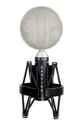 Cascade Microphones 98Gl Fat Head Short Ribbon Microphone, Black And Silver