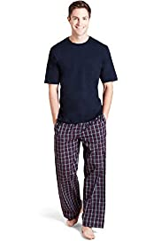 "2"" Longer Pure Cotton Graphic Checked Pyjamas"