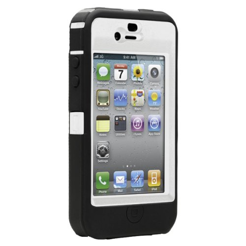 OtterBox Defender Case for iPhone 4 (White and Black, Fits AT&T iPhone)