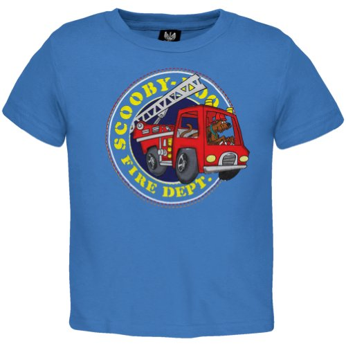 Scooby-Doo - Fire Dept Toddler T-Shirt 3T Blue front-1058784