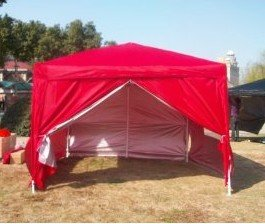 Quictent New Red 10'x10' Pop up Gazebo Wedding Tent Canopy with Sidewalls