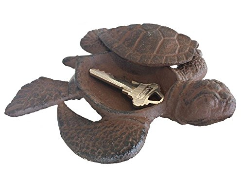 Rustic Cast Iron Turtle Hide A Key 5""