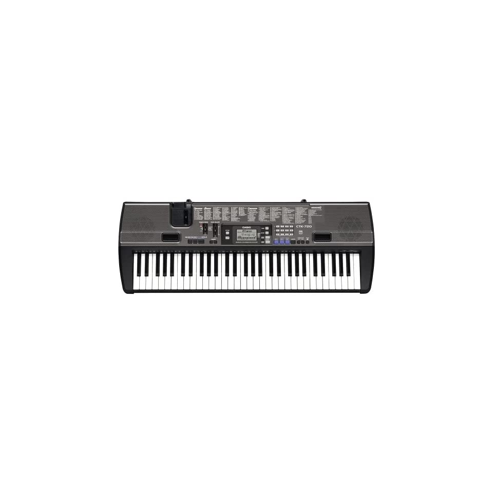 Casio 61 Key Portable Keyboard w/ Stand   Black   CTK 720/STADV