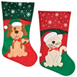 Pets Christmas Stocking Dog or Cat Your Choice (Dog)