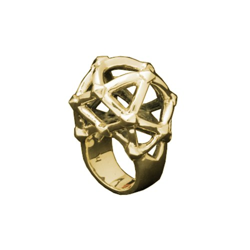 HAN CHOLO Gold Labyrinth Ring, Size 6