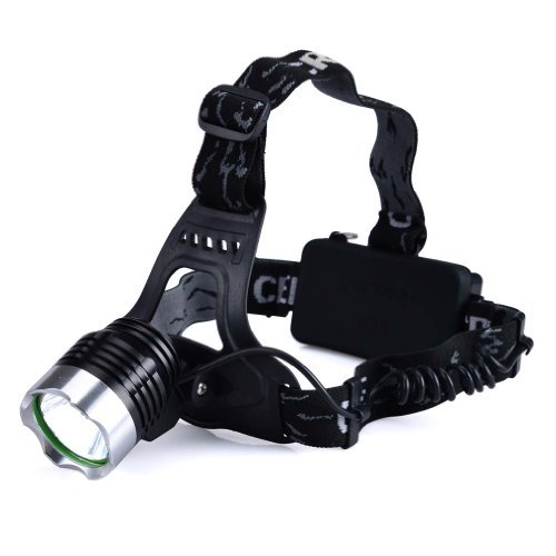 Canwelum Ultra-Bright Camping Cree T6 Rechargeable Led Headlamp, Led Headlight, Hunting Led Head Lamp (A Complete Set With Battery And Charger: Bigger Battery Power Capacity & With Protective Board)