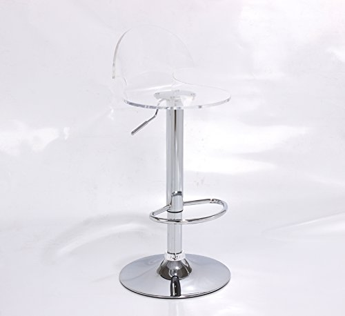 Acrylic Hydraulic Lift Adjustable Counter Bar Stool pack of 2 (clear ...