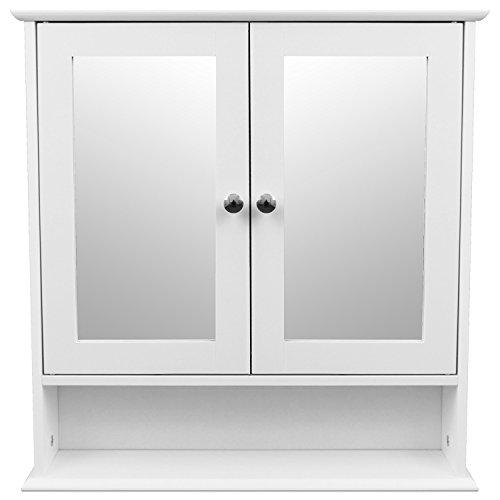 Spiegelschrank-mit-Ablage-56x13x58cm-im-Landhaus-Stil-Wandschrank-Hngeschrank-fr-Bad-und-Flur-Wei