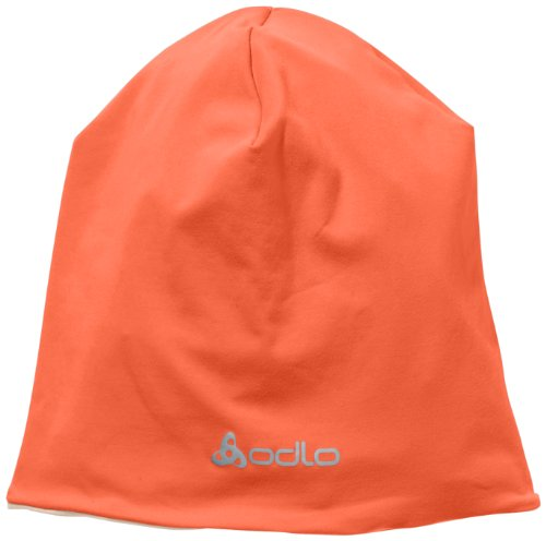 Odlo Mütze, Hut und Cap Camping und Outdoor Beanie Casual, Hot Coral - Laurel Oak, One size, 792260