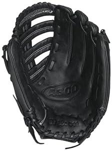 "Wilson A600 Slowpitch Glove, Right Hand Throw, 13"", Black"
