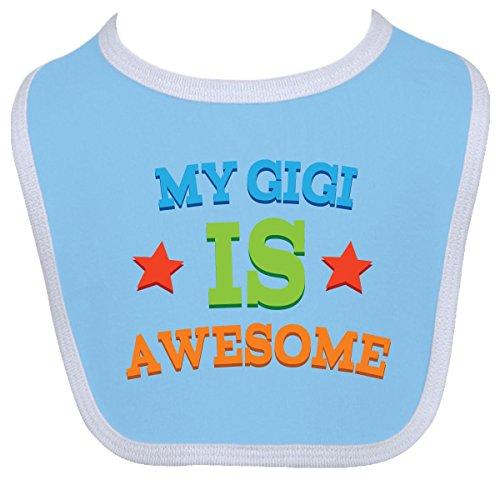 Inktastic Baby Boysâ€Tm My Gigi Is Awesome Baby Bib One Size Blue/White