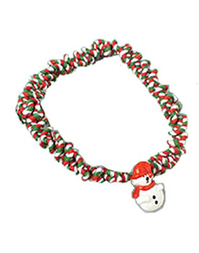 "New 7"" Elastic Snowman Christmas Choker Necklace"