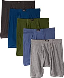 Hanes Men\'s 5 Pack Ultimate Comfort Soft Waistband Boxer Brief - Colors May Vary, Assorted Colors, X-Large